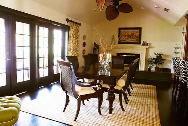 British Colonial Style Dining Rooms
