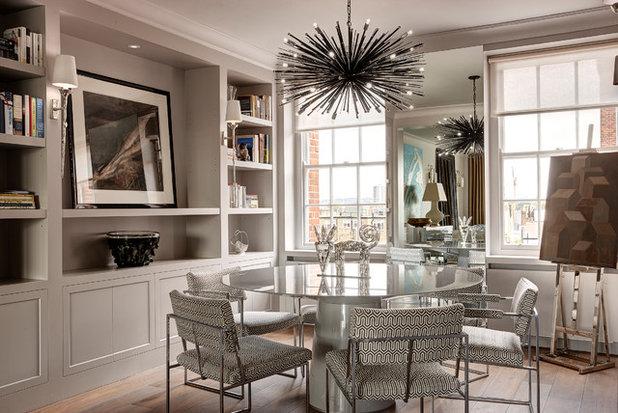 Transitional Dining Room by NV Integration