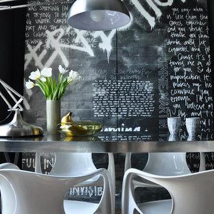 Inspiration för en funkis matplats, med flerfärgade väggar