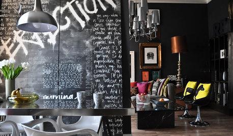 К доске: 25 идей использования грифельной краски