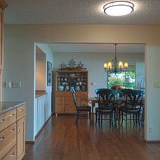 Transitional Dining Room by A Kitchen That Works LLC