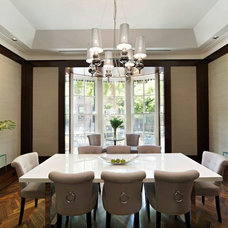 Transitional Dining Room by Frank M. DeBono Construction Corp.