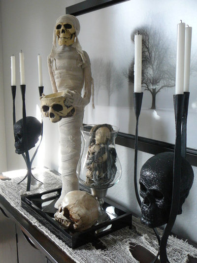 eclectic dining room by focal point styling - Sophisticated Halloween Decorations