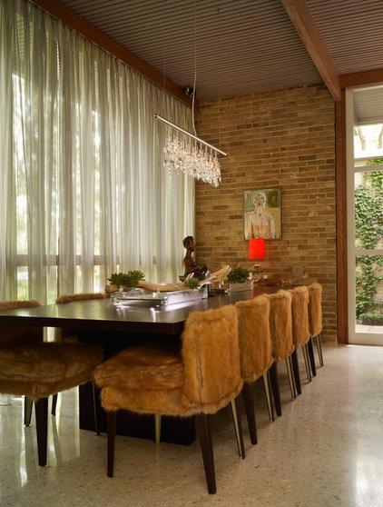 Midcentury Dining Room by Bauhaus Custom Homes