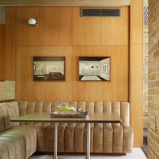 Midcentury Dining Room by Bauhaus Custom Homes