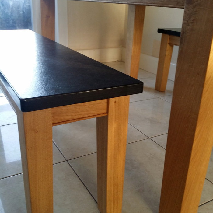 Oak & Slate Dinning Table