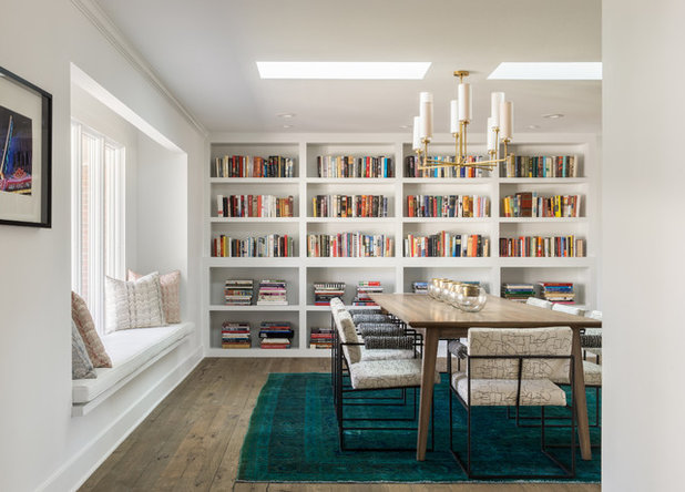Contemporary Dining Room by Duet Design Group