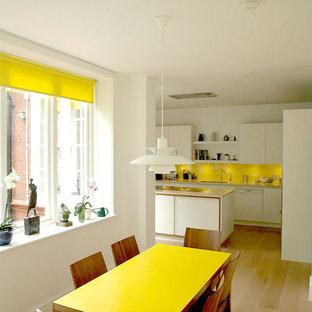 Пример оригинального дизайна интерьера: кухня-столовая в современном стиле