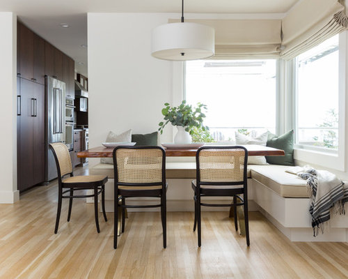 Lovely Inspiration For A Transitional Light Wood Floor And Beige Floor Dining Room  Remodel In San Francisco