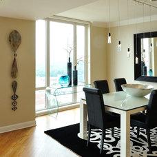 Contemporary Dining Room by MaRae Simone Interiors, LLC