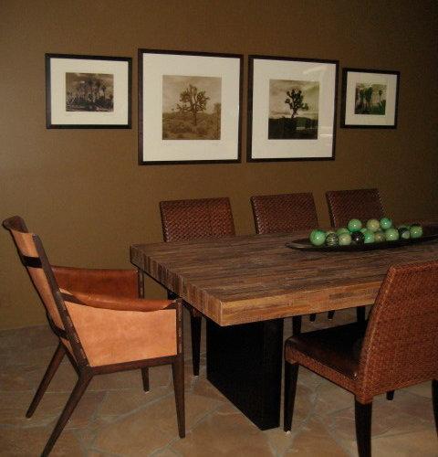 Southwestern dining room design ideas remodels photos for Southwestern flooring
