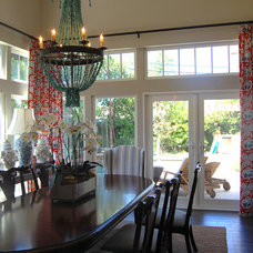 Transitional Dining Room by Dana Nichols