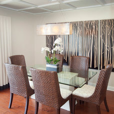 Transitional Dining Room by Wright Interior Group