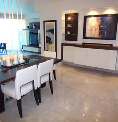 contemporary dining room by CONANT INTERIORS