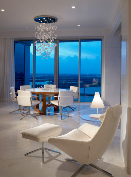 Contemporary Dining Room by alene workman interior design, inc