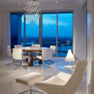 Idée De Décoration Pour Une Grande Salle à Manger Ouverte Sur Le Salon  Design Avec Un