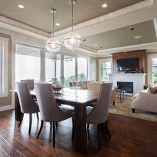 Transitional Dining Room by Kenorah Construction & Design Ltd