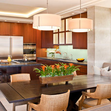 Contemporary Dining Room by Prestige Builders