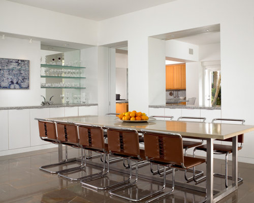 Kitchen/dining Room Combo   Contemporary Kitchen/dining Room Combo Idea In  Miami With