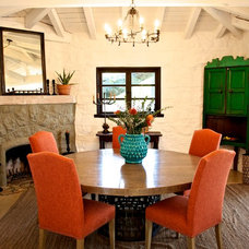 Rustic Dining Room by Hunter Design