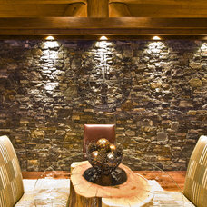 Rustic Dining Room by Sticks and Stones Design Group inc.