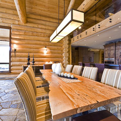 modern dining room by Sticks and Stones Design Group inc.