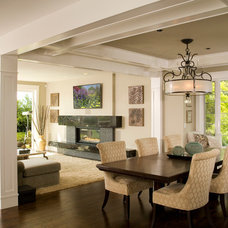 Transitional Dining Room by Choice Construction