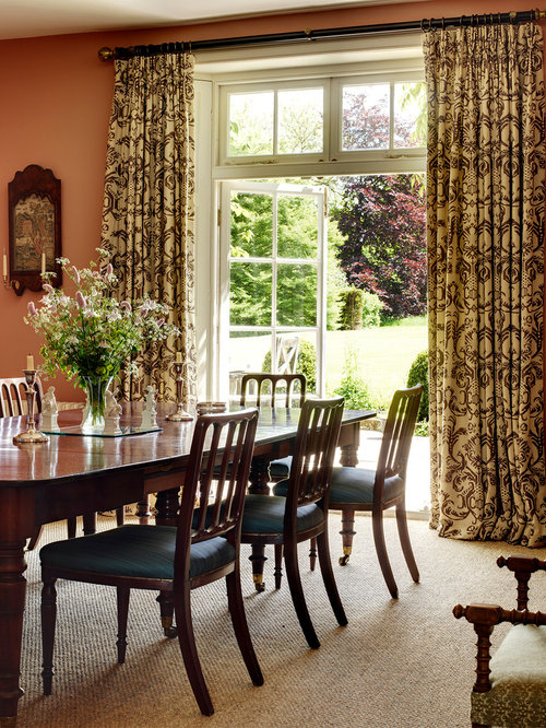 Dining room curtains houzz for Dining room drapes