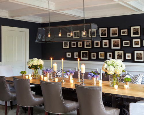 dining room lighting ideas pictures. Enclosed Dining Room - Huge Traditional Carpeted Idea In New York With Black Lighting Ideas Pictures