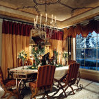 red and gold dining room | Red and Gold Dining Room with Stencil Pattern - Dining ...
