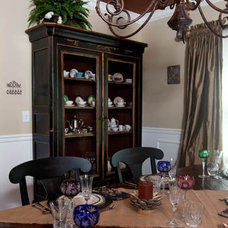 Eclectic Dining Room by Iris Interiors