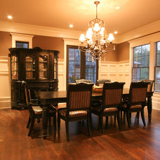 Traditional Dining Room by Norwood Architects
