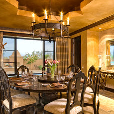 Mediterranean Dining Room by Mike Wachs Construction Co., Inc.