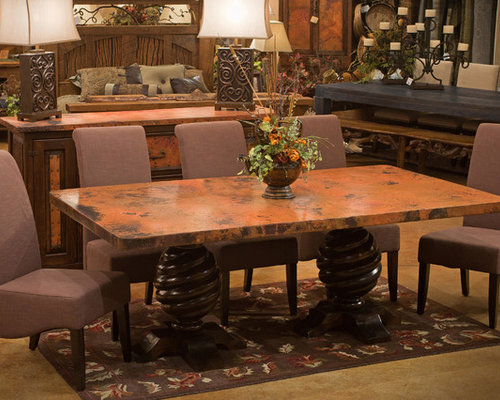 copper dining room table copper dining table houzz 2943