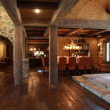 Traditional Dining Room by EverLog™ Systems: Worry Free Concrete Logs
