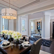 Contemporary Dining Room by Laura Manning Bendik