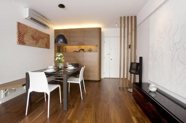 Am nager l 39 espace la semi cloison en lames de bois - Design ideas for small apartments with room divider and hallway decoration ...