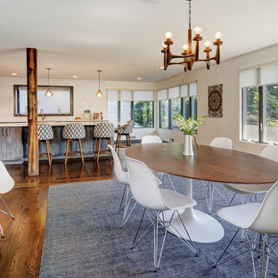 Open concept dining room & kitchen