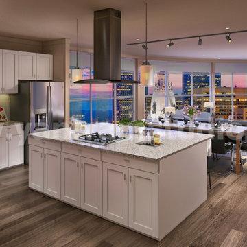 fabulous idea of Open Kitchen - Living & Dinning room