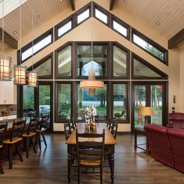 Open Concept Living & Dining Area