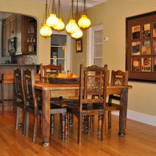 Traditional Dining Room by christina rexford designs