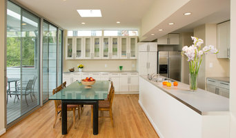 Open galley kitchen and dining area