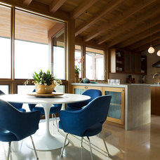 Rustic Dining Room by Sutton Suzuki Architects