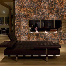 Modern Dining Room by Natural Mosaic Tiles