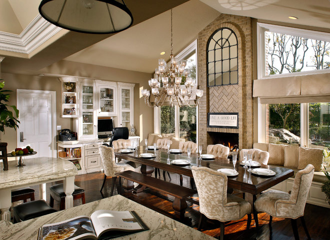 Traditional Dining Room by Beth Whitlinger Interior Design