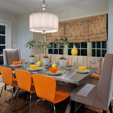 Transitional Dining Room by HarLoe Interiors