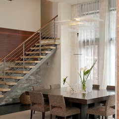 contemporary dining room by Amelie de Gaulle Interiors