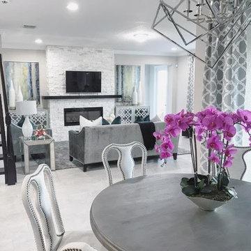 Orlando Transitional Family Room & Breakfast Area