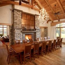 Rustic Dining Room by Harvest House Craftsmen
