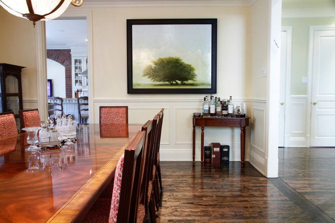 Traditional Dining Room by Esther Hershcovich